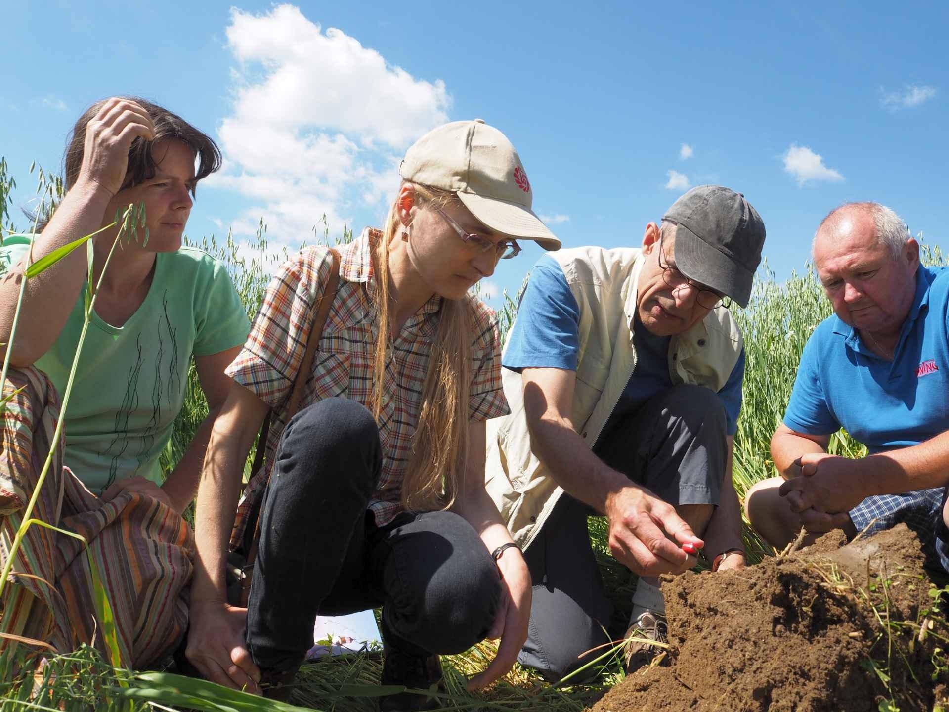 Praktická ukázka indikátorů zdravé půdy při semináři